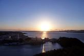大草山から望む夕日