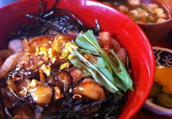 牡蠣かば丼アップ三州庵 (4)