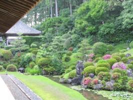 龍潭寺さつきの庭園